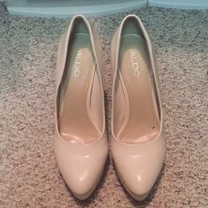 Cream Aldo heels stilettos